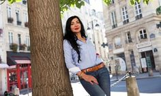 Syrian poet Maram al-Masri in Paris. 'The world of my heart has become vast. It started with the revolution.'