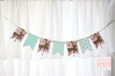 Merry Go Round Horses Glitter High Chair Banner by ooohlalapaperie