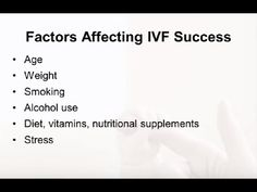 Preparing for In Vitro Fertilization (IVF): Lifestyle Factors. Presented by Brooke Rossi, M.D.  This microvideo discusses lifestyle factors that may affect in vitro fertilization, or IVF, outcomes. Although many of the topics discussed also affect general fertility, for the purposes of the video, we are focusing on IVF.  For more information, please visit http://www.sart.org and http://www.reproductivefacts.org