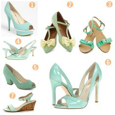 Mint Wedding Shoes...love the light green color!