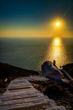 Sunset over Olympos - Karpathos Island