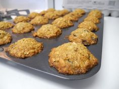 Aussie Bites from Costco....Made these, but substituted gluten free oats, oat flour, and coconut sugar and left out the salt and butter. They were awesome!