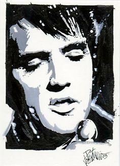 Elvis art by Joe Petruccio