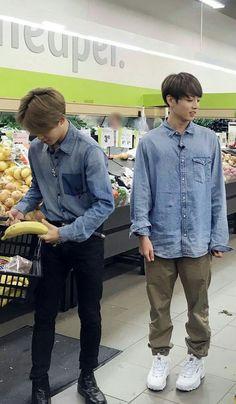 ★ JiKook ★ Jimin and Jungkook food shopping