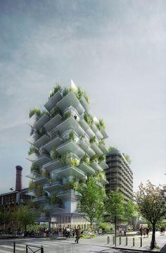 """Galeria de Projeto """"In Vivo"""" do XTU Architects entre os vencedores do concurso Réinventer.Paris - 4"""