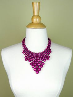 Plum Purple Beaded Statement Necklace - $25.00 : FashionCupcake, Designer Clothing, Accessories, and Gifts