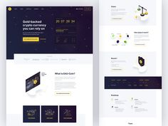 Crypto Currency Landing designed by Maya Koeva for Stan Vision. Bitcoin Cryptocurrency, Does It Work, Crypto Currencies, User Interface, Landing, Coins, Web Design, Website, Maya