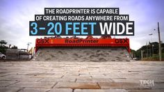 This amazing road-building machine rolls out brick lanes like a carpet, creating roads anywhere from 3-20 ft wide.