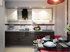 Minimalist Modern Small Kitchen Set with Dining Room