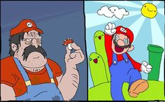 The Wonders of Mario Bros. - Demotivational Posters to Demotivate You - Work Harder, Not Smarter. To put the cart before the horse, and to never do what is best for you. Funny Meme Pictures, Funny Memes, Hilarious, It's Funny, Funny Cartoons, What Really Happened, Know Your Meme, Super Mario Bros, Make Sense