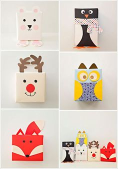 My Owl Barn: DIY Animal Shaped Gift Wrapping