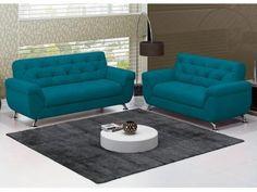 Sofá 2 e 3 Lugares Revestimento Suede Lince - Linoforte R$ 1.899,98  Desfrute de muito conforto e qualidade com o estofado Lince