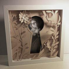 Tableau en papier découpé et crayon à papier. © Emmanuelle Pioli