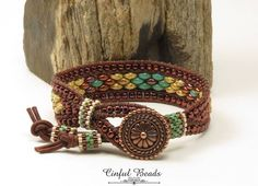 SINGLE WRAP LEATHER Bracelet-Copper-Turquoise-Picasso-Southwest Leather Wrap-Rustic Bracelet-Boho Wrap-Chic-Hippie-Leather Cuff-(SW27) by CinfulBeadCreations on Etsy