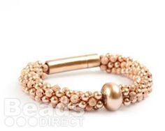 DIY Becharmed Rose Gold Bracelet. Learn how to make this gorgeous rose gold beaded kumihimo bracelet using @Brenda Noble YOUR STYLE with SWAROVSKI ELEMENTS  Rose Gold BeCharmed Bead, Kumihimo Beaded Braid and a Rose Gold Stainless Steel Lock Clasp. Why not try to make yours today and get crafty with kumihimo by following our step by step tutorial.