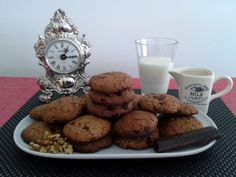 Galletas de avena con pepitas de chocolate y nueces