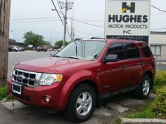 2008 #Ford Escape XLT #SUV Fully equipped with cruise control, POWER: locks, doors, mirrors, steering, windows. Aluminum wheels, fog lamps, keyless entry, privacy glass, front bucket seats, cloth interior, pass-thru rear seat, roof rack. Hughes Motor Products info@hughesmotorproducts 416-252-1100 #usedSUV