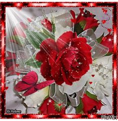 See the PicMix Red Roses. Flowers Gif, Beautiful Rose Flowers, Pretty Roses, Beautiful Gif, Gifs, White Roses, Red Roses, Gif Bonito, Beau Gif