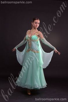 Spearmint Ballroom Sparkle dress