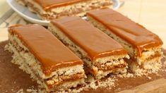 Tarta de galletas al caramelo Flan Au Caramel, Toffee, Biscuits, Sandwiches, Snacks, Health, Ethnic Recipes, Desserts, Food