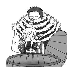 One Piece Meme, One Piece Funny, One Piece Ship, One Piece Fanart, Cracker One Piece, Family First, Cute Comics, Mom And Dad, Anime Art