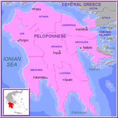 Carte Péloponnèse
