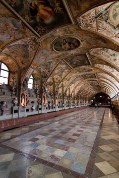 The Antiquarium in the Residenz in Munich, Germany. It's the oldest surviving part of the Residenz and the largest Renaissance ceremonial hall north of the Alps by theqspeaks
