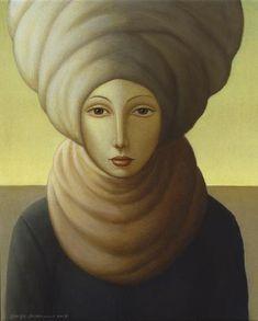 English painter George Underwood (b 1947) - Leah (2008)