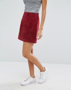 Image 4 of River Island Suede Mini Skirt