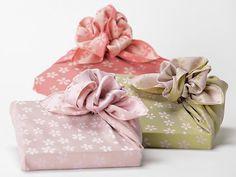 Furoshiki Japanese Wrapping Cloth Pink Sakura Cherry by JAPANTIQUE