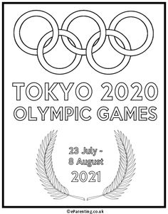 A free printable colouring picture to celebrate the Olympiad which will be held from 23 July to 8 August 2020 Olympics, Tokyo Olympics, Coloring Pictures For Kids, Best Trampoline, Tokyo 2020, Holidays With Kids, Pictures Images, Colouring Pages, Printable Coloring