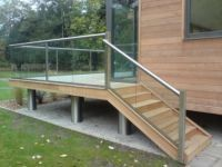 glass stair handrails