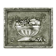 Fruit Bowl 3 Backsplash / Mural Pewter