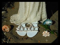 Beach Wedding Sandals by meganannear on Etsy, $40.00    LOVE THESE!