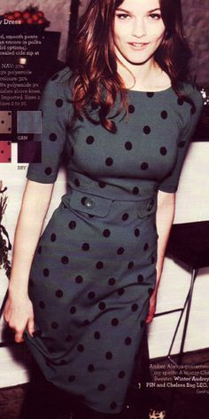 The Winter Audrey Dress Boden channels Miu Miu's playful polka dots! More at bonconseil.us