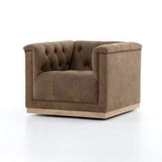 Available online only. The Maxx Leather Swivel Chair is a modern take on the classic library chair and brings style to any space it occupies. Big Comfy Chair, Comfortable Office Chair, Cozy Chair, Swivel Club Chairs, Upholstered Swivel Chairs, Swivel Armchair, Home Depot Adirondack Chairs, Plastic Adirondack Chairs, The Maxx
