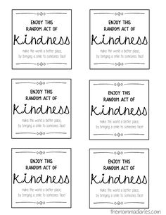 25 Days of Random Acts of Kindness + FREE Printables! - The Momma Diaries Act Of Kindness Quotes, Kindness Notes, Kindness For Kids, Teaching Kindness, World Kindness Day, Kindness Activities, Kindness Matters, Random Acts Of Kindness Ideas For School, Kindness Projects