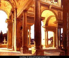 A Study of Architecture, Florence - John Singer Sargent - www.johnsingersargent.org