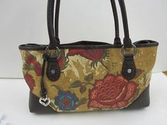 Mouse over image to zoom  Have one to sell? Sell it yourself Brighton Matisse Purse FLoral D460780 Red Swirly Interior -