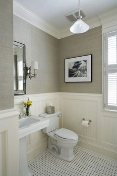 30 Most Popular Small Bathroom Remodel On A Budget. tags: small bathroom decorating ideas, simple bathroom designs, small bathroom ideas photo gallery, bathroom designs for home. Small Half Bathrooms, Beautiful Small Bathrooms, Amazing Bathrooms, Bathroom Small, Neutral Bathroom, Relaxing Bathroom, Bathroom Mirrors, Bathroom Colors, 1920s Bathroom
