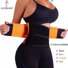 781ee422e33 Neoprene Sweat Belt Waist Trainer Workout Trimmer Hot Body Shaper Weight  Loss Exercise Slimming Girdle Waist