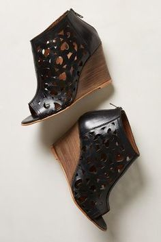 Anthropologie Charm-Cut Wedges #anthrofave