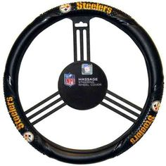 Picture of Pittsburgh Steelers Massage Steering Wheel Cover Pittsburgh Steelers Logo, Steelers Football, Pittsburgh Penguins, Super Bowl Rings, Steeler Nation, Steel Wheels, First Car, Wheel Cover, Golf Clubs