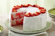 Strawberry Swirl Cake - quick, easy, impressive looking, and most importantly DELICIOUS!