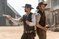 Vasquez and Faraday - The Magnificent Seven - this movie turned out to be really good