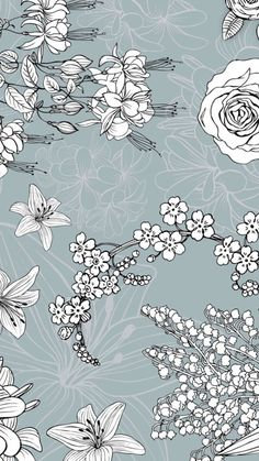 Vintage Flowers Wallpaper, Beautiful Flowers Wallpapers, Cute Patterns Wallpaper, Pretty Wallpapers, Flower Wallpaper, Wallpaper Backgrounds, Iphone Wallpaper, Morris, Cellphone Wallpaper