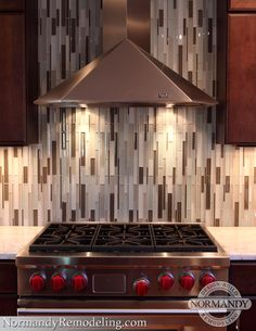 Stainless steel chimney hood to accentuate the kitchen's modern look