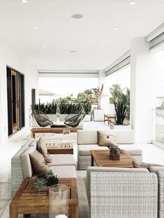 The creams and tans bring a tranquil feeling on the balcony at the Oasis-themed balcony at #LincolnBlackLabel house.