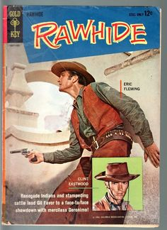 Rawhide #2-Clint Eastwood Eric Fleming TV photo cover Gold Key 1963-VG VG
