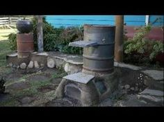 ▶ Rocket Stove or Rocket Mass Heater Half Barrel System - YouTube